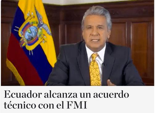 Ecuador Anuncia Acuerdo con el FMI
