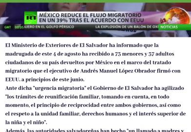 📄[NOTICIA]: México devuelve a El Salvador a 110 migrantes, la mayoría niños.